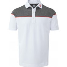 Footjoy Colour Block Stretch Pique White/Red/Charcoal