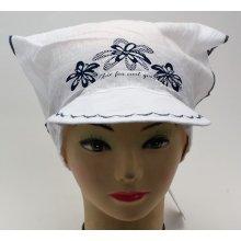 RDX Dívčí šátek s kšiltem 7539 Bílá fbda15cc71
