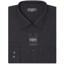 AMJ pánská košile s dlouhým rukávem, vzorovaná VD607