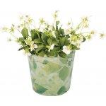 ESSCHERT DESIGN Plastový květináč   potisk listů   M