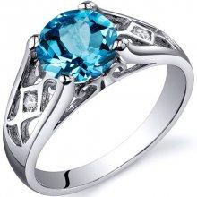 Eppi Stříbrný prsten se švýcarským topazem a zirkony Inga R35983