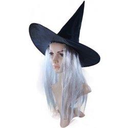 096c30944ed klobouk čarodějnický s vlasy dospělý