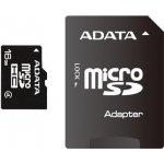 ADATA microSDHC 16GB Class 4 + adaptér AUSDH16GCL4-RA1