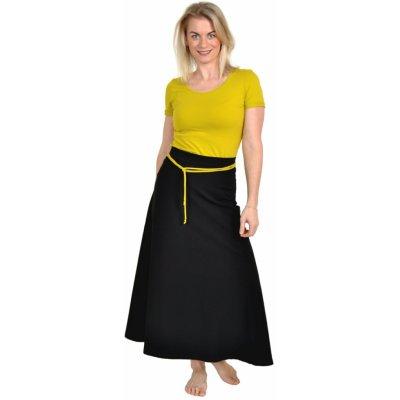 Áčková maxi sukně Stela / černá