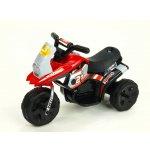 ChuChu Motorka Racing sport 6V s 2 světly a muzikou pro nejmenší červená