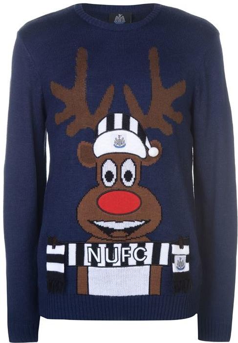 b500e4aa234 Dreamstock Select Pánský vánoční svetr s jelenem NUFC Modrý alternativy -  Heureka.cz