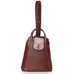 Kabelka kožený kabelko-baťůžek Gianina hnědý 22f46f8007
