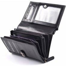 Valentini Dámská peněženka na výšku vybavená na karty a mince černá, 10 x 2 x 15 (SV00-563884-09KUZ)