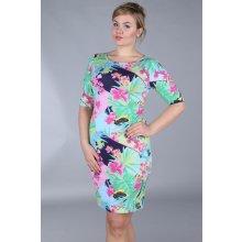 4fcc0044fe3f Dámské šaty pro plnoštíhlé květinový vzor barevná