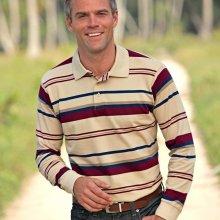 Blancheporte Proužkované polo tričko s krátkými rukávy režná