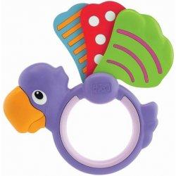 Chicco Chrastítko lehké papoušek křídlo