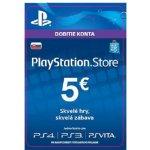 Sony PlayStation Store předplacená karta 5 EUR