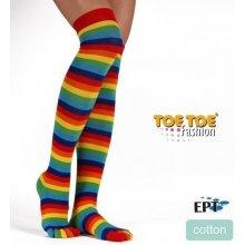 ToeToe Prstové nadkolenky overknee rainbow duha