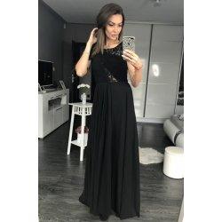 3d4fc0a1dd6c Eva   Lola dámské společenské a plesové dlouhé šaty s perličkami černá