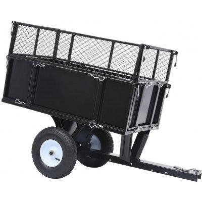 Meedo Sklápěcí přívěsný vozík za zahradní traktor nosnost 150 kg