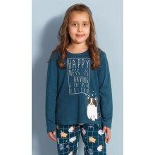 Dětské pyžamo dlouhé Kotě petrolejová