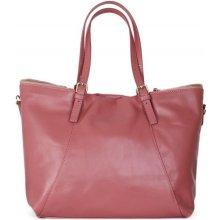 ae26e81e2d4 Italské luxusní dámské kožené na rameno Samanta růžové