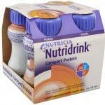Nutridrink Compact Protein s příchutí broskev a mango por.sol. 4 x 125 ml