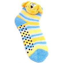 Attractive Teplé ponožky CHAUSSONS CHAUSSETTES 12 KFA001 DOG + 12 KFA002 REINDEER LOT DE 2 2 páry