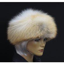 e17aeb5f9e8 Špongr Kožešinová čepice ze zlatoplatinové lišky kulatá