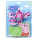 CERDA Sada vlasových doplňků Peppa Pig kartáč 4 gumičky 4 sponky