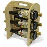 Stojan na 6 lahví - dřevěný R0006