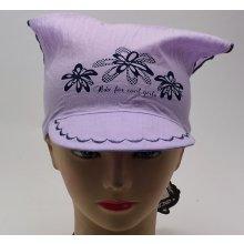 RDX Dívčí šátek s kšiltem 7539 fialová 2ad5ed546c