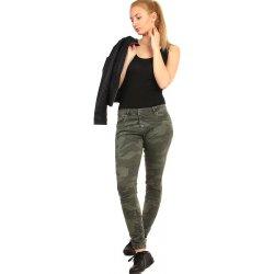 YooY Dámské úzké kalhoty s army potiskem tmavě zelená alternativy ... 39c0ec2043