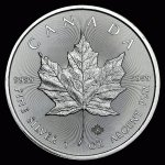 Maple Leaf Stříbrná mince Canadian 1 oz 2016