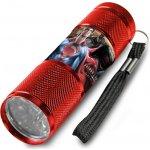 Euroswan Dětská hliníková LED baterka Batman vs. Superman červená Alu 9x2,5 cm