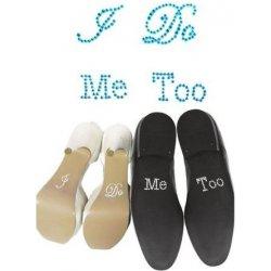 Specifikace Samolepky na boty pro nevěstu a ženicha I Do a MeToo ... 2b4b21cbca