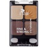 E style Fine & Strong Eye Shadow Quatro oční stíny 5 Coffee 6 g