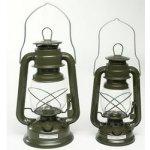 Petrolejová lampa 23cm ZELENÁ