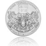 Česká mincovna Stříbrná desetiuncová mince Vznik Československa stand 311 g