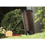 Prosperplast Woodcan sud na dešťovou vodu 265l - černá