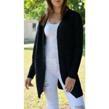 80eb4ccb22d8 Fashionweek Stylový pletený cardigan jak sako který zaručene zahřeje  NB02 5852 Černá