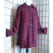 Kabátek s límcem bordový
