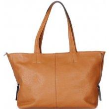 328dbf7331b9f Italské Hnědé dámské kožené kabelka na rameno Ramira