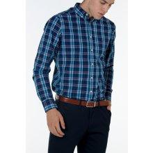 Gant pánská košile O1. INDIGO BROADCLOTH CHECK REG BD modrá fe4d262567