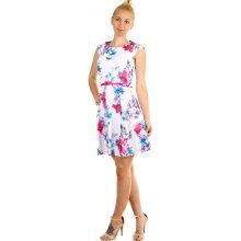 774e9df8eec YooY áčkové dámské šaty s květinovým potiskem bílá