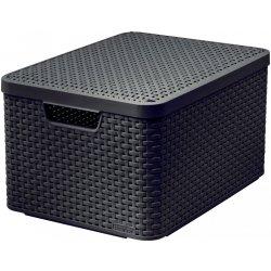 c869044dd CURVER úložný STYLE BOX s víkem - L - tm. hnědý (03619-210)