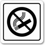 Poháry.com Piktogram zákaz kouření samolepka