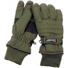 Thinsulate zateplené zelené rukavice prstové