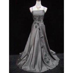 Stříbrné šedé dlouhé společenské plesové svatební šaty alternativy ... 9dc698a03e