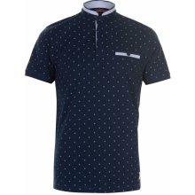 Pierre Cardin Mandarin Polo Shirt Mens Navy