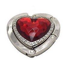 Háček na kabelku srdce - červená