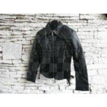 Kožená bunda sportovní dámská černá