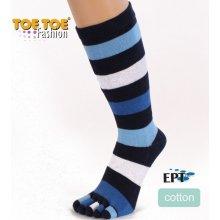 ToeToe STRIPY prstové pruhované ponožky modrá