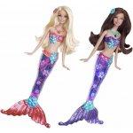 Barbie - mořská panna svítící (se svítící ploutví)