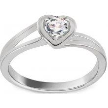 6653789eb iZlato Forever Zásnubní prsten s diamantem 0,140 ct Sweet Heart white KU235A
